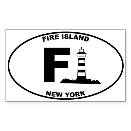 Fire Island Lighthouse Sticker (Rectangle)