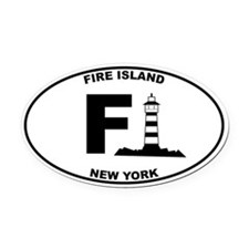 Fire Island Lighthouse Oval Car Magnet