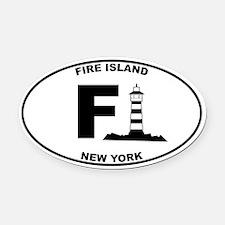 Fire Island Lighthouse Oval Car Magnet