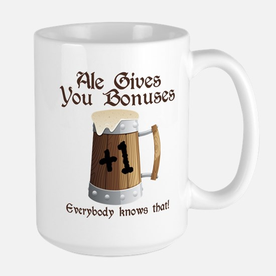 Ale Gives You Bonuses... Large Mug