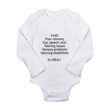 FASD Long Sleeve Infant Bodysuit