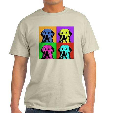Andy Warhol Golden Retriever Ash Grey T-Shirt