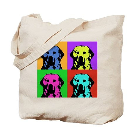 Andy Warhol Golden Retriever Tote Bag
