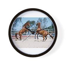 Horse Play Wall Clock