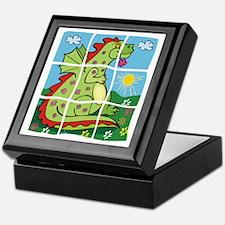Green Dragon Puzzle Pet Keepsake Box