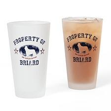 Briard Drinking Glass
