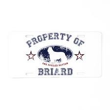 Briard Aluminum License Plate