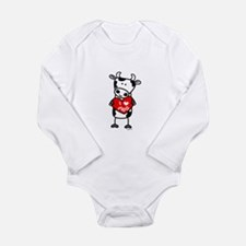 Cute Lillovecow Long Sleeve Infant Bodysuit
