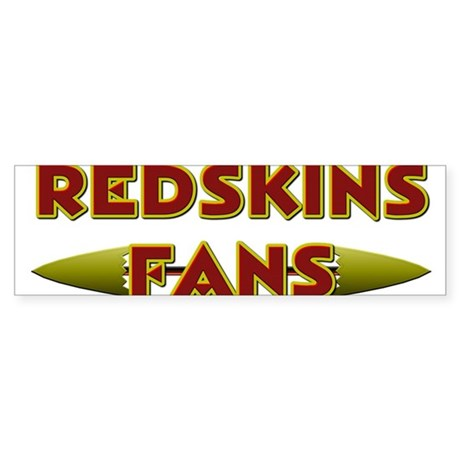 Redskins Fans Sticker (Bumper)