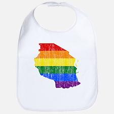 Tanzania Rainbow Pride Flag And Map Bib