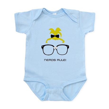 Nerds Rule! Girls Infant Bodysuit
