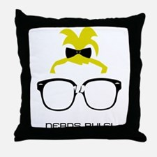 Nerds Rule! Girls Throw Pillow