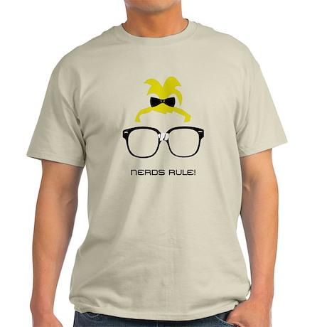 Nerds Rule! Girls Light T-Shirt