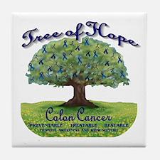 Cute Cancer tree Tile Coaster