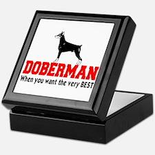 DOBERMAN THE VERY BEST Keepsake Box