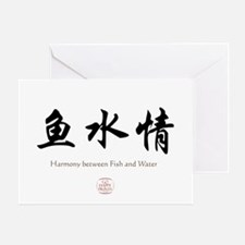 Harmony between Fish and Water Greeting Card
