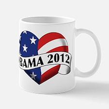 Obama 2012 Stars and Stripes Heart Banner Mug