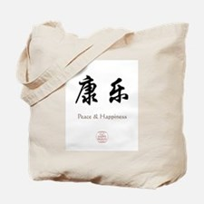 Peace Happiness Tote Bag