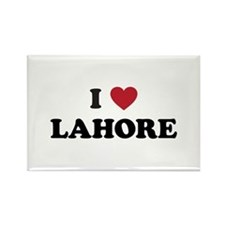 I Love Lahore Rectangle Magnet