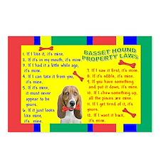 Unique Basset Postcards (Package of 8)
