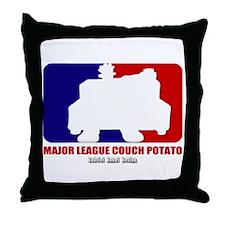 Major League Couch Potato Throw Pillow