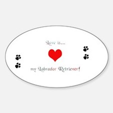Lab love Oval Decal