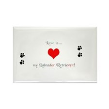 Lab love Rectangle Magnet