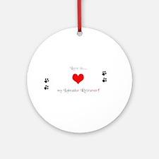 Lab love Ornament (Round)