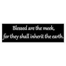 Meekness, White on Black, Beatitude Bumper Bumper Sticker