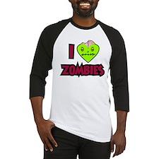 I Love Zombies Baseball Jersey