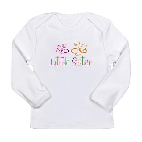 Little Sister Buttterfly Long Sleeve Infant T-Shir