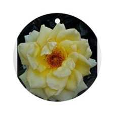 flowers of fun yellow rose Ornament (Round)
