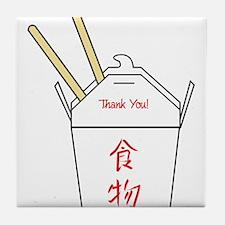 Chinese Food Take Out Carton Tile Coaster
