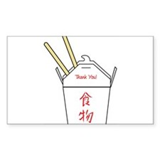 Chinese Food Take Out Carton Bumper Stickers