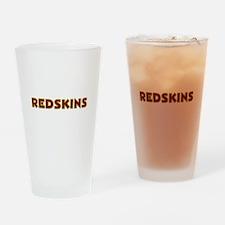Redskins Text Logo - Large Drinking Glass