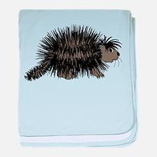 Cartoon Porcupine Graphic baby blanket