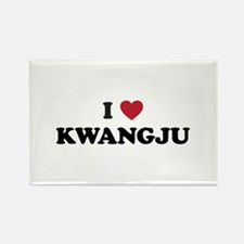 I Love Kwangju Rectangle Magnet