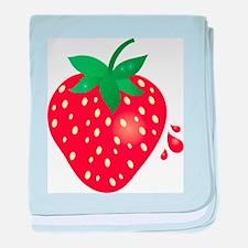 Juicy Ripe Strawberry baby blanket