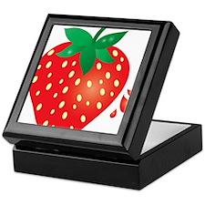 Juicy Ripe Strawberry Keepsake Box