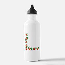Fresh Summer Strawberries Border Water Bottle