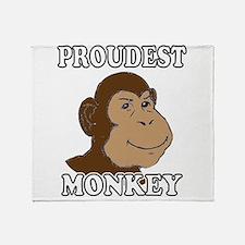 Proudest Monkey Throw Blanket