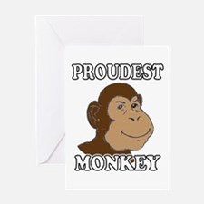 Proudest Monkey Greeting Card