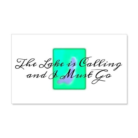 The Lake Is Calling and I Must Go 20x12 Wall Decal