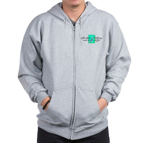 The Lake Is Calling and I Must Go Zip Hoodie