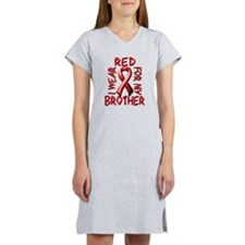 I Wear Red for my Brother Women's Nightshirt