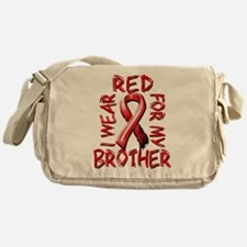 I Wear Red for my Brother Messenger Bag