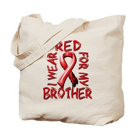 I Wear Red for my Brother Tote Bag