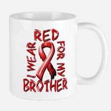 I Wear Red for my Brother Mug