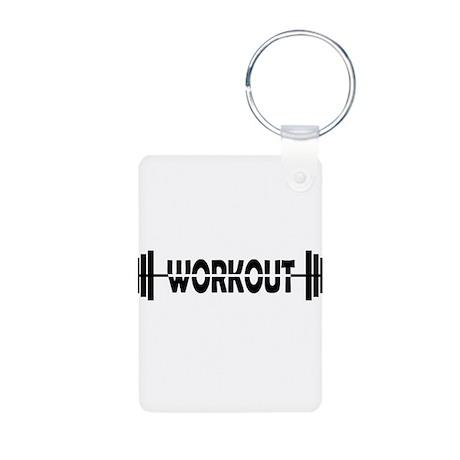 Workout logo Aluminum Photo Keychain