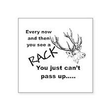 "Nice Rack Square Sticker 3"" x 3"""